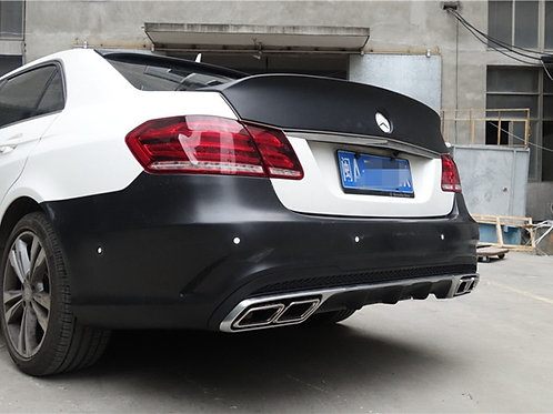 MB14'W212 E-CLASS WALD BLACK BISON STYLE TRUNK WING