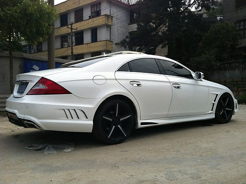 MB W219 CLS-CLASS WALD BLACK BISON STYLE SIDE SKIRTS