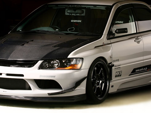 EVO 8/9 VARI* HURTING STYLE SIDESKIRTS W/CARBON EXTENSIONS- NEWEST!!!