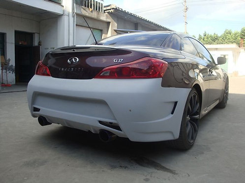 INFINITI G35 G37 2D E-STYLE REAR BUMPER WITH DUAL EXHAUST CUT-OUT