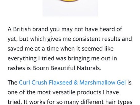 Curl Crush Flaxseed & Marshmallow Gel  & 5 Other Hair Products for Curlies with Sensitive Skin