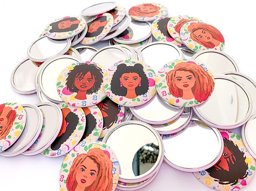 Curly Girls Pocket Mirrors