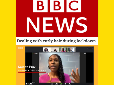 We're in a Lockdown Hair Tutorial on BBC News!