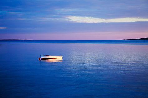 bigstock-Seascape-with-White-Boat-in-Bl-