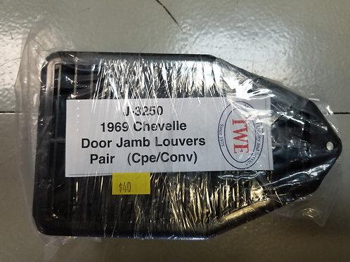 1969 Chevelle Door Jamb Louvers (pair)