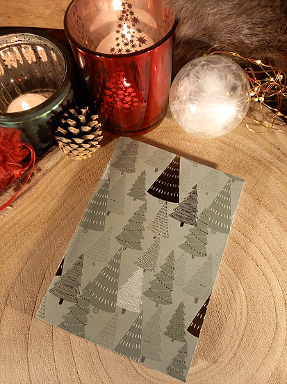 """Cahiers de Noël """"Forêt de sapin"""""""