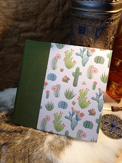 "Carnet carré ""Cactus blancs"""