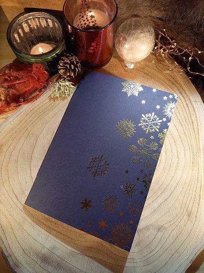 """Cahiers de Noël """"Flocons dorés"""""""