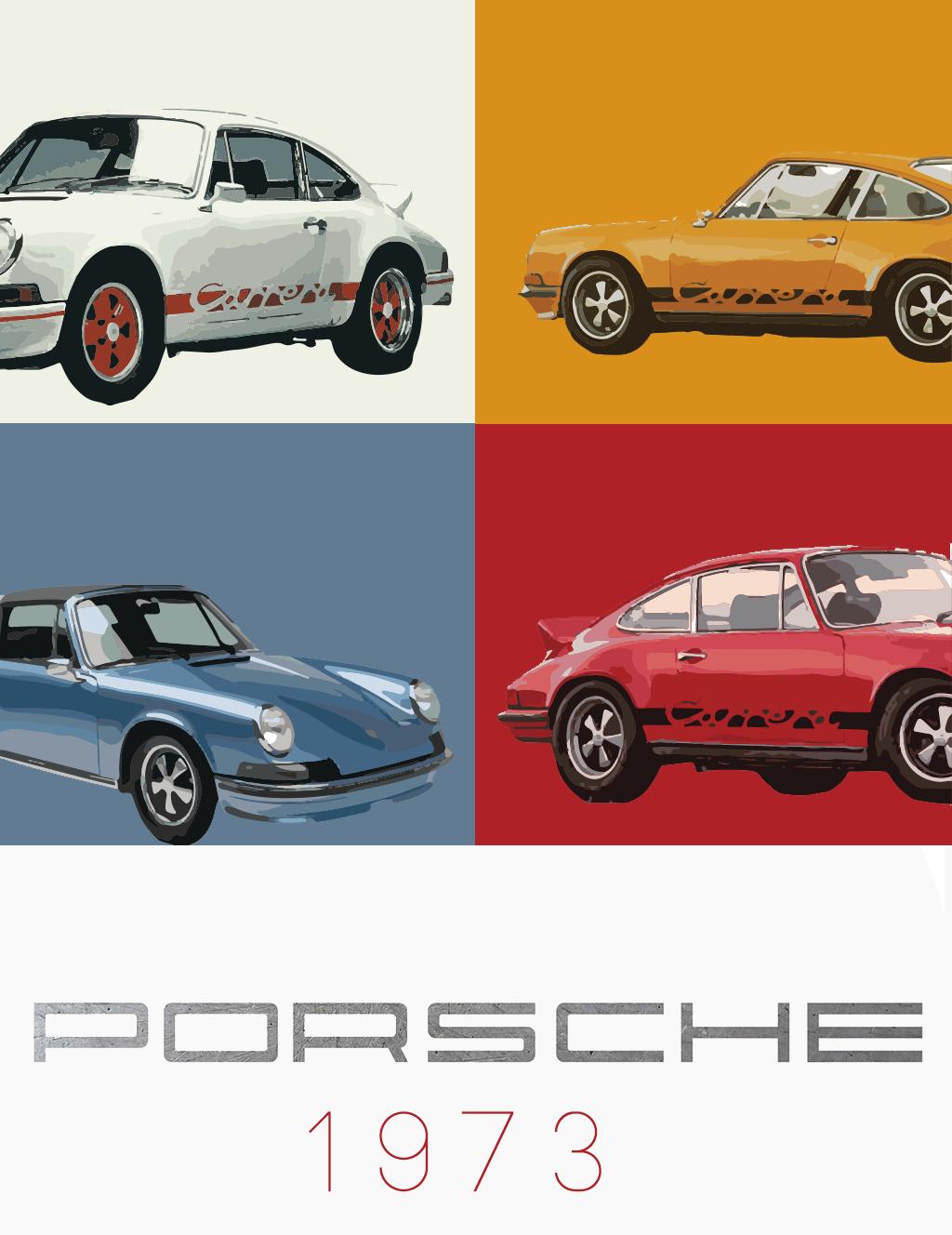 Porsche 1973 Poster