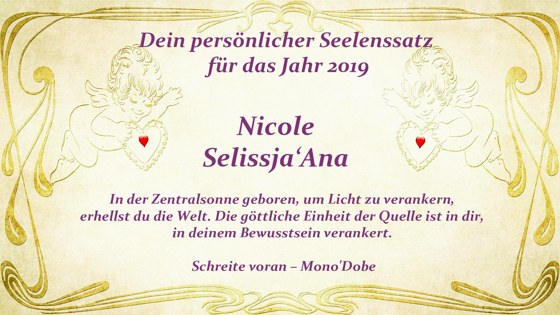 Seelensatz 2019 - Nicole