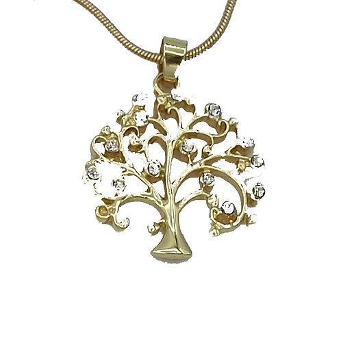Kette Lebensbaum - vergoldet
