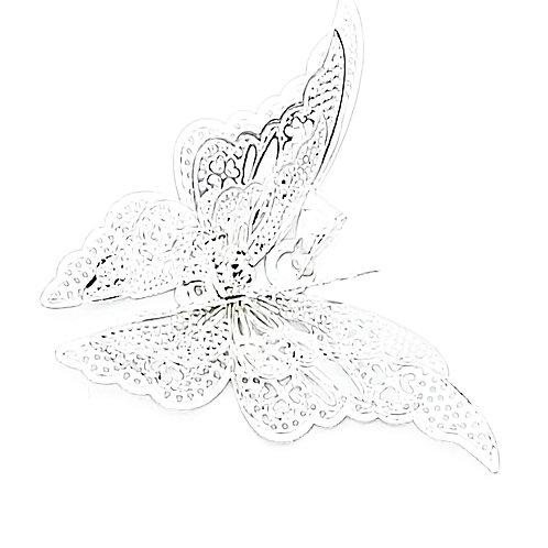 Silberkette mit 3D Schmetterling - 925 Sterling