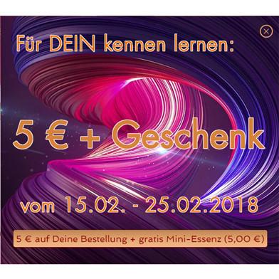 Kennenlernen Angebot, 5 € + Geschenk für DICH