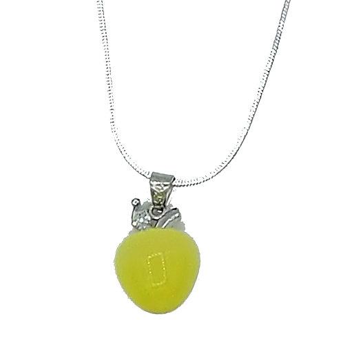 925er Silberkette mit Apfel Anhaenger
