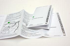 Folder Flyer Faltblatt drucken Aachen