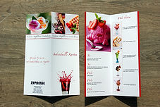 Speisekarten drucken Aachen Druckerei wetterfest