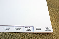 Register drucken Aachen Druckerei gedruckte Register