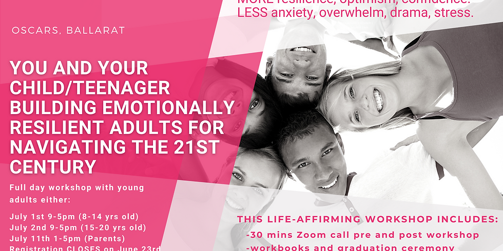 You and your Child/Teen. Building Emotionally Resilient Adults for Navigating the 21st Century