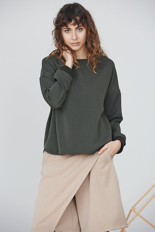 BASIC TOP WITH KNITWRIST