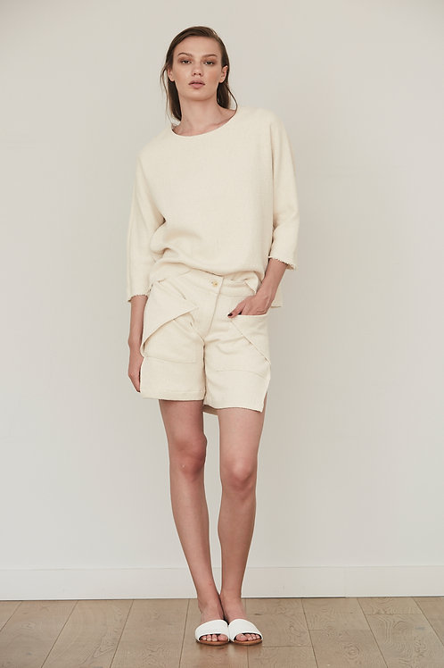 TEXTURED TOP FRENCH SLEEVE