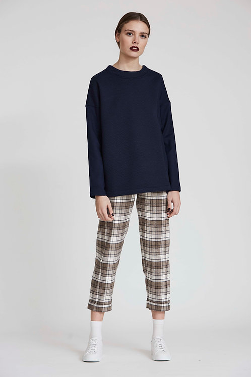 STRAIGHT PANT WITH ELASTIC BAND