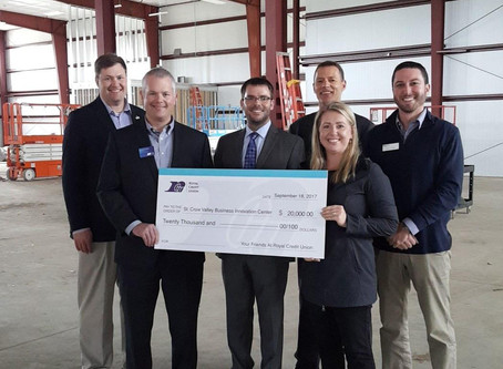 Royal Credit Union contributes $20,000 in support of the St. Croix Valley Business Innovation Center