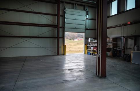 One of three loading docks