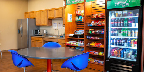 Onsite snacks and beverages provided by Three Square Market