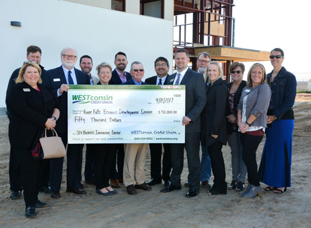 St. Croix Valley Business Innovation Center Receives $50K from WESTconsin Credit Union