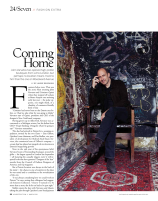An interview with John Varvatos for Hour Detroit.