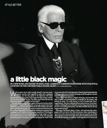 An interview with Karl Lagerfeld for Gotham magazine.