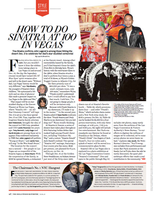 Sinatra 100 for The Hollywood Reporter.