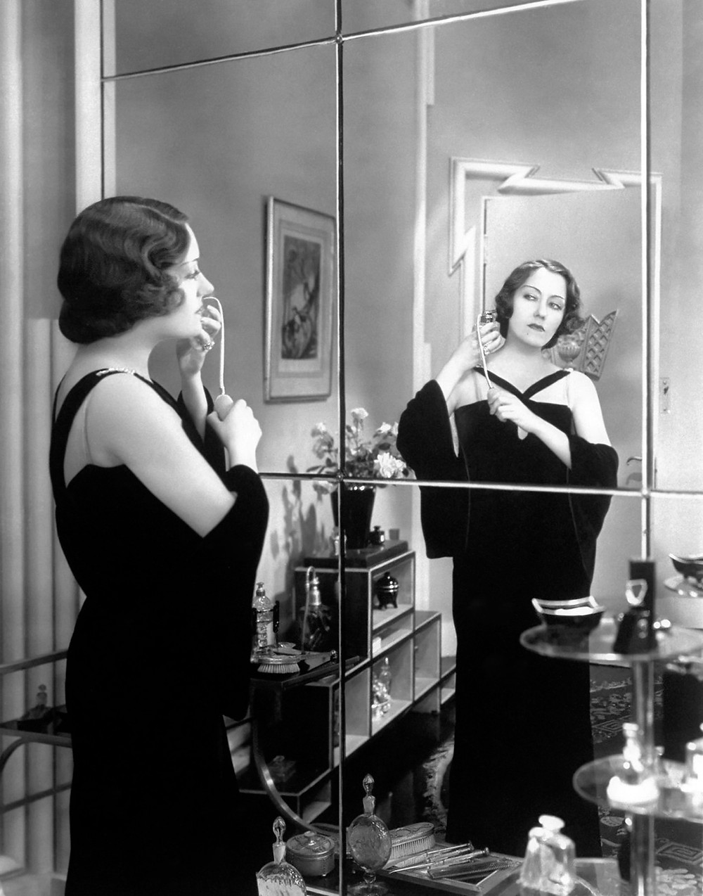 Gloria Swanson in an evening gown by designer Coco Chanel in the classic film Tonight of Never