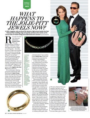The Jolie-Pitt Jewels for The Hollywood Reporter.