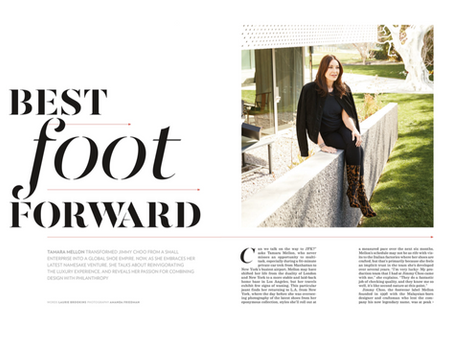 An interview with Tamara Mellon for Celebrated Living.