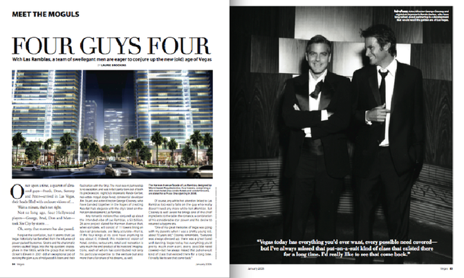 An interview with George Clooney for Vegas magazine.