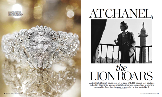 A feature about Chanel high jewelry for Boston Common magazine.