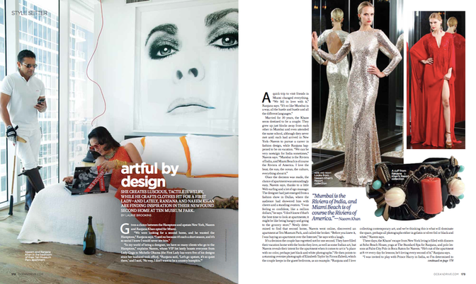 An interview with Naeem Khan for Ocean Drive magazine.