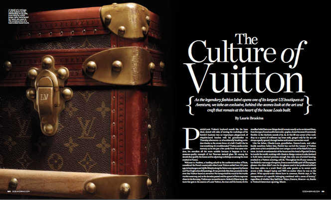 A heritage feature about Louis Vuitton for Ocean Drive magazine.