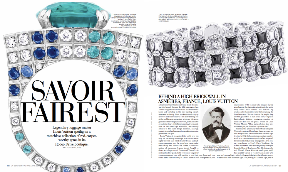A feature about Louis Vuitton high jewelry for LA Confidential.