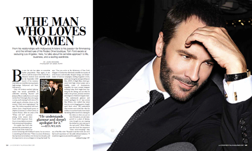 An interview with Tom Ford for LA Confidential.