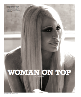An interview with Donatella Versace for Ocean Drive magazine.