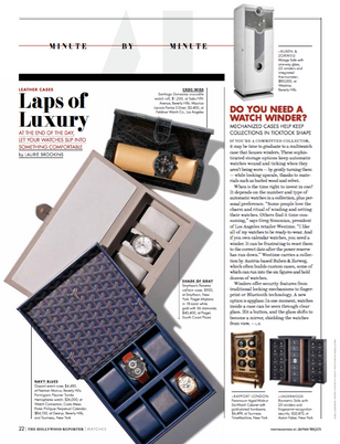 A spotlight on watch cases for The Hollywood Reporter.