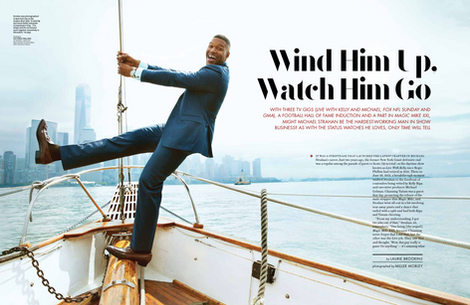 An interview with Michael Strahan for The Hollywood Reporter.