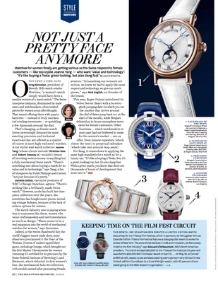 Women's watches for The Hollywood Reporter.
