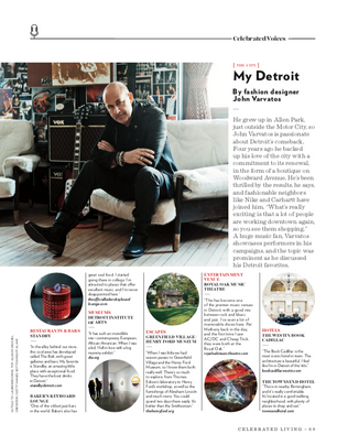 An interview with John Varvatos for Celebrated Living.
