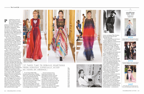 A feature about Schiaparelli for Celebrated Living.