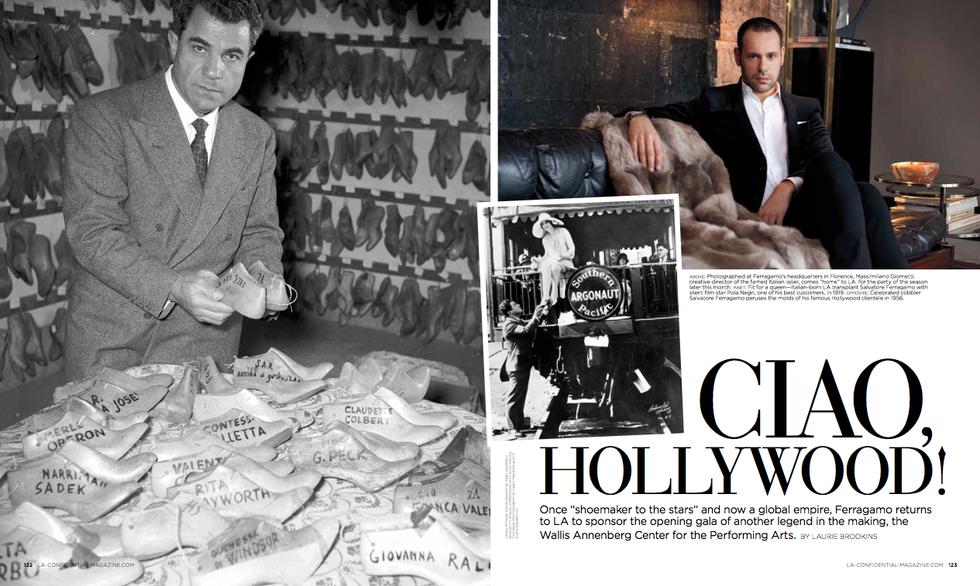 A feature about Salvatore Ferragamo for LA Confidential.