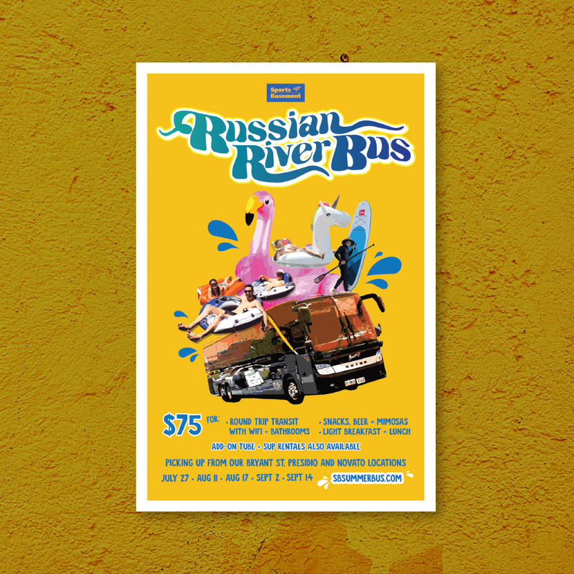 Russian River Bus Poster