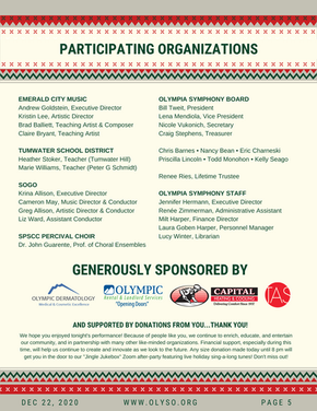 Participating Organizations & Sponsors